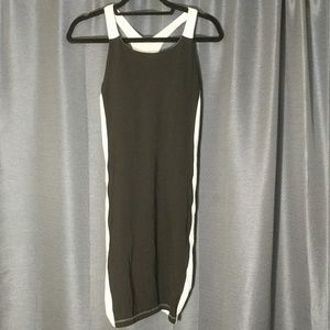 Black and white athleta dress